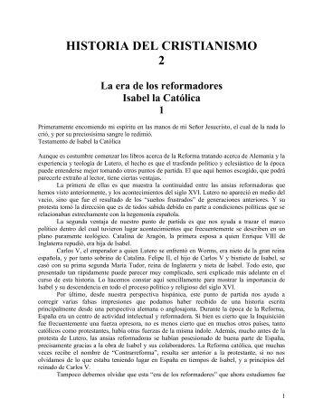Historia del Cristianismo Tomo 2 - iglesia bautista getsemani de ...