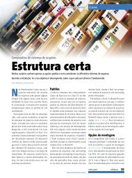 Estrutura certa - Linux Magazine Online