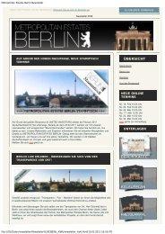 Metropolitan Estates Berlin Newsletter - United Investors