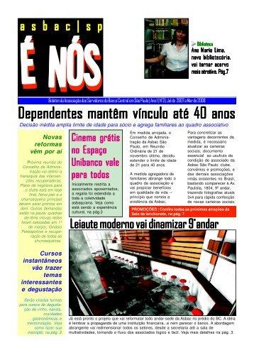 É Nós edição 3 - clique para fazer o - ASBAC São Paulo
