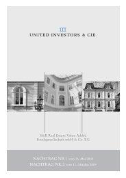 S&K Real Estate Value Added Fondsgesellschaft ... - United Investors