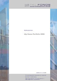 dtp Game Portfolio 2006 ohne IRR - United Investors