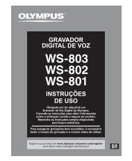 INSTRUÇÕES DE USO GRAVADOR DIGITAL ... - Olympus America