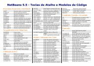 NetBeans 5.5 - Teclas de Atalhos e Modelos de ... - NetBeans Wiki