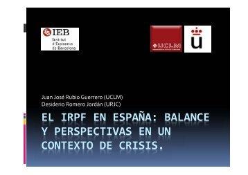 EL IRPF EN ESPAÑA: BALANCE Y PERSPECTIVAS EN UN ... - IEB