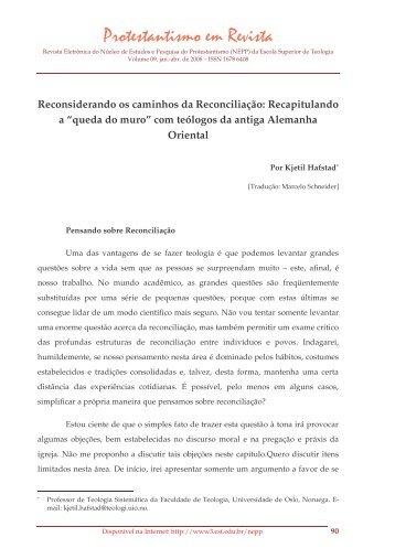 Reconsiderando os caminhos da Reconciliação ... - Faculdades EST