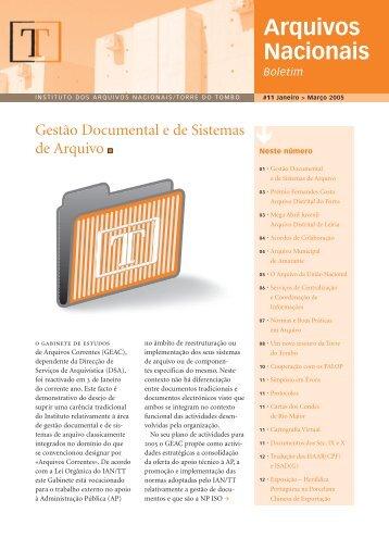 Boletim dos Arquivos Nacionais Nº 11 - Direção-Geral de Arquivos
