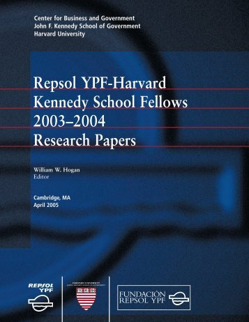 Research Report Papers - Harvard Kennedy School - Harvard ...