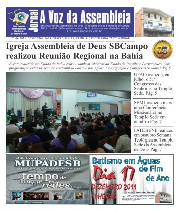 Jornal A Voz - Edição 93 - Outubro-Novembro 2011 ... - Valter Borges