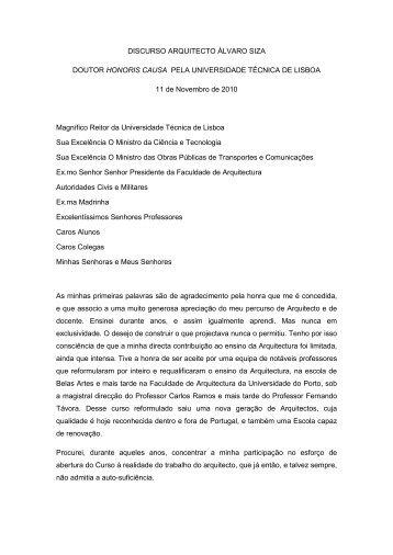 Discurso Siza Vieira - Universidade Técnica de Lisboa