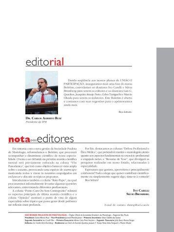 boletim abril.pmd - sociedade brasileira de mastologia - regional ...