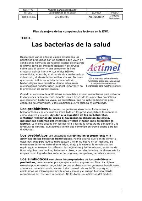 beneficios de los probioticos pdf