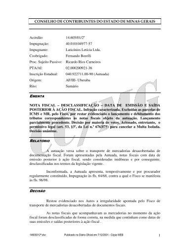 Microsoft Word - 14605012\252.doc - Secretaria de Estado de ...