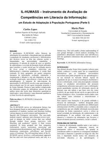 IL-HUMASS – Instrumento de Avaliação de Competências em ...