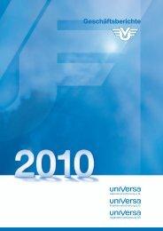 Geschäftsbericht 2010 - uniVersa Versicherungen