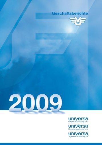 Geschäftsbericht 2009 - uniVersa Versicherungen