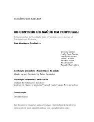 os centros de saúde em portugal - Cuidados de Saúde Primários