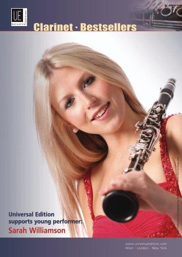 Clarinet . Bestsellers - Universal Edition