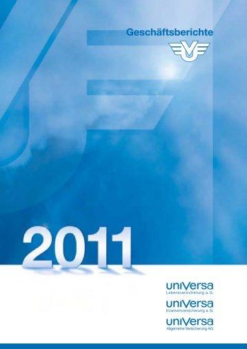 Geschäftsbericht 2011 - uniVersa Versicherungen