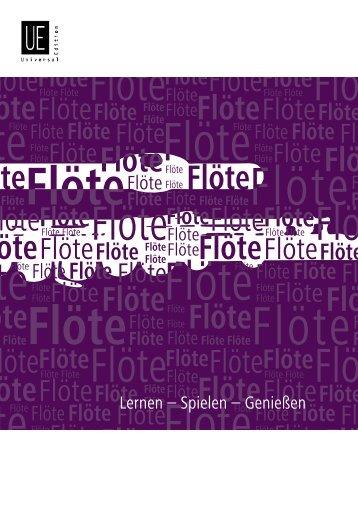 Flöte - Universal Edition