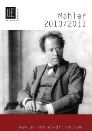 Mahler 2010/2011 - Universal Edition