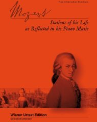 Mozart - Stations of his Life - Universal Edition