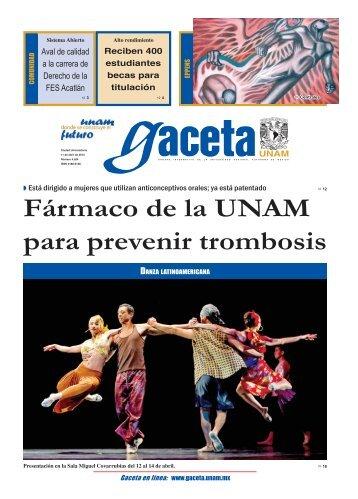 Fármaco de la UNAM para prevenir trombosis