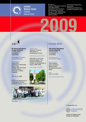 Aktivitäten 2009 - Pdf Folder - Universität Wien