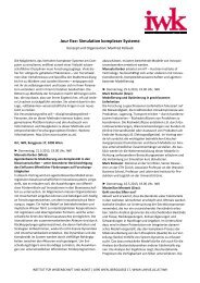Jour fixe: Simulation komplexer Systeme - Universität Wien