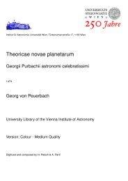 Theoricae novae planetarum - Universität Wien
