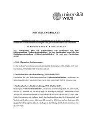 217. Verordnung über die Anerkennung von ... - Universität Wien