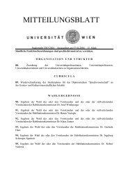 Mitteilungsblatt vom 07.04.2004 - Universität Wien