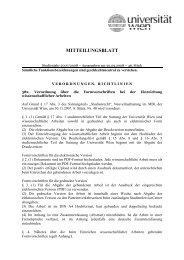 Formvorschriften bei der Einreichung ... - Universität Wien