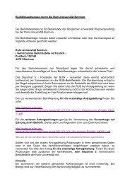 Beihilfe für Bedienstete der Bergischen Universität