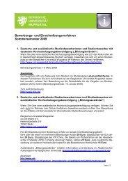 BUW Bewerberinformationen2 - Bergische Universität Wuppertal