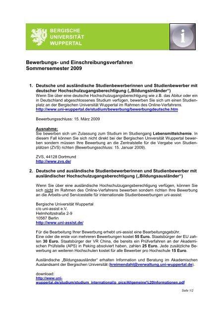 Zulassungsvoraussetzungen Und Bewerbung Fakultat 6