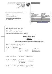 22.06.2011: 215. Sitzung - Bergische Universität Wuppertal
