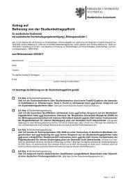 Antrag Beitragsbefreiung ausl. Studierende - Bergische Universität ...