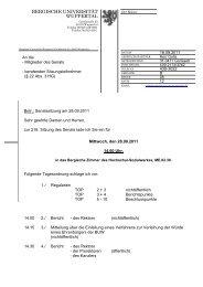 28.09.2011: 216. Sitzung - Bergische Universität Wuppertal