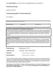 Bitte per e-mail senden an: (Wird durch Dezernat 4 - Bergische ...