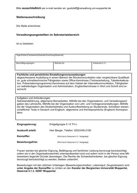Bitte Per E Mail Senden An Wird Durch Dezernat 4 Bergische