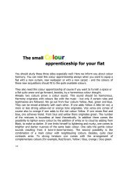 The small Colour apprenticeship for your flat