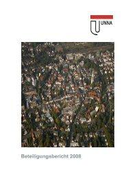 Beteiligungsbericht 2008 der Kreisstadt Unna (8,44 MB