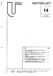 Zweite Gestaltungssatzung im Bebauungsplan Unna Nr. 11