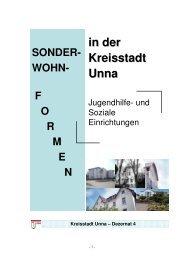 Broschüre Sonderwohnformen - Kreisstadt Unna