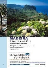 MADEIRA - St. Wendeler Volksbank eG