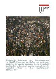 Download der Maßnahmen-Übersicht (PDF-Datei ... - Kreisstadt Unna