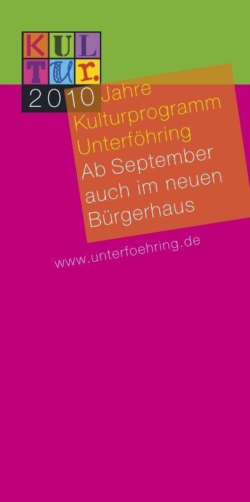 2 0 10 Jahre - Gemeinde Unterföhring