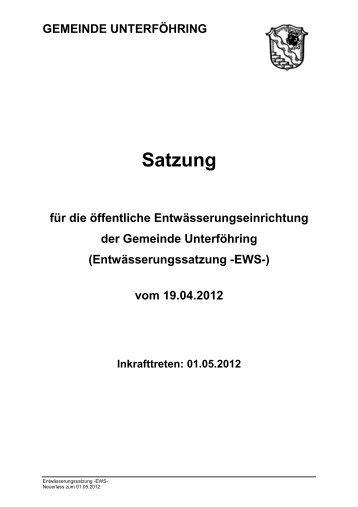 Satzung - Gemeinde Unterföhring