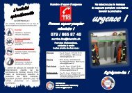 au CSI Haut-Lac : 1 centre de secours et ... - Commune de Vionnaz